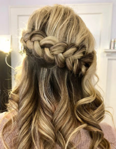 Wavy Hair with Braid